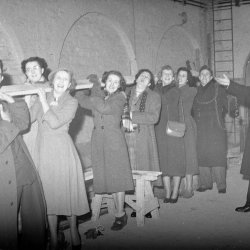 1066 And All That audition. The first theatrical show in the new Queen's Hall 26/3/1952 Credit: Part of the North Devon Journal Collection held by the North Devon Athenaeum
