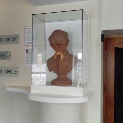 John Gay bust at the Queen's Theatre, Barnstaple