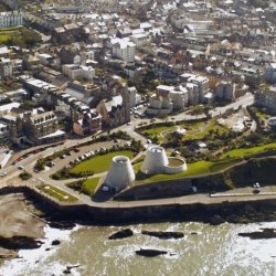 Aerial shot of Ilfracombe including the Landmark Theatre Credit: Lance Rice